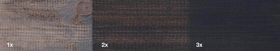 Restol™ Anthrazit auf unbehandeltem Holz: