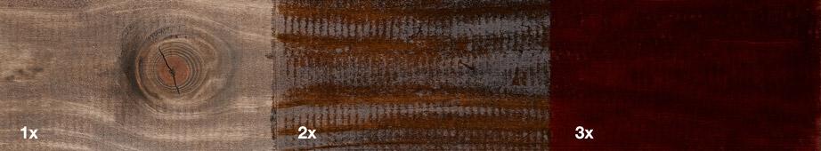 Restol™ Dunkeleiche auf unbehandeltem Holz: