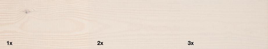 Restol™ Perlweiß auf unbehandeltem Holz: