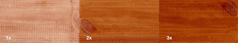 Restol™ Rotbraun auf unbehandeltem Holz