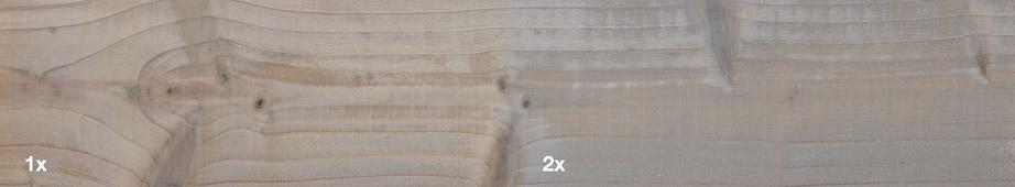 Restol™ Hellgrau auf impr&aumlgniertem Holz: