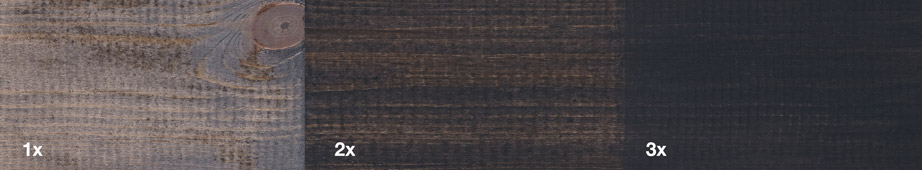 Restol™ Anthracite Grey on untreated wood: - Restol™