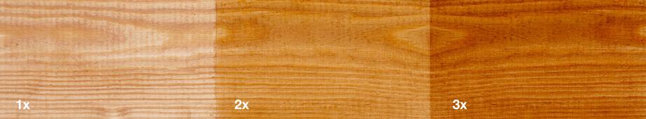 Restol™ Natural Brown on untreated wood: - Restol™