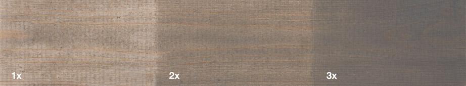 Restol™ Grey on untreated wood: - Restol™
