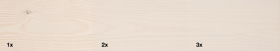 Restol™ Pearl White on untreated wood: - Restol™
