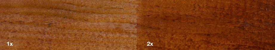 Restol™ Natural Brown on impregnated wood: - Restol™