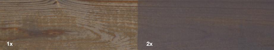 Restol™ Grey on impregnated wood: - Restol™