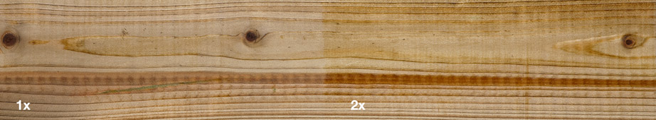 Restol™ Natural UV Extra on impregnated wood: - Restol™