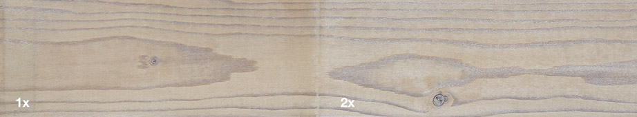 Restol™ White Wash applied to impregnated wood: - Restol™